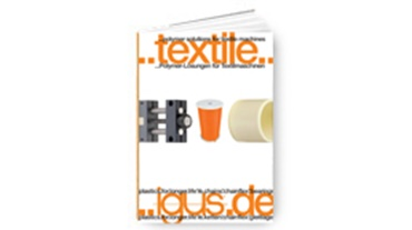 Folleto de industria textil
